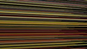 Fantastische Animation mit Streifengegenstand in der Bewegung, Schleife HD 1080p stock video
