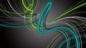 Fantastische Animation mit Streifengegenstand in der Zeitlupe, 4096x2304 Schleife 4K stock footage