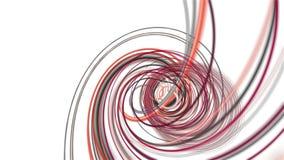Fantastische Animation mit Streifengegenstand in der Zeitlupe, 4096x2304 Schleife 4K vektor abbildung
