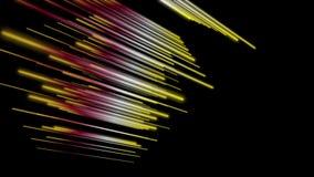 Fantastische Animation mit Streifengegenstand in der Zeitlupe, 4096x2304 Schleife 4K stock video