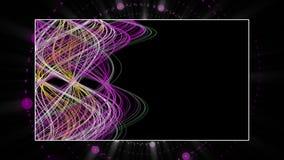 Fantastische Animation mit Streifengegenstand in der Zeitlupe, 4096x2304 Schleife 4K stock abbildung