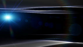 Fantastische Animation mit Wellengegenstand und Licht, Schleife HD 1080p stock abbildung