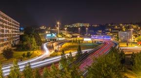 Fantastische Ansicht über Braga-Stadt Stockfotos