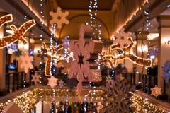 Fantastische binnenhuisarchitectuur in Kerstmis royalty-vrije stock foto's