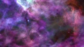 Fantastische blauw-Violette Ruimtenevelachtergrond vector illustratie
