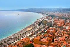 Fantastische cityscape van Nice, Frankrijk royalty-vrije stock foto's
