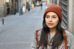 Fantastische ethnische Frau mit Kopienraum lizenzfreies stockbild