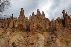 Fantastische Felsenwand von der Wirklichkeit stockbild