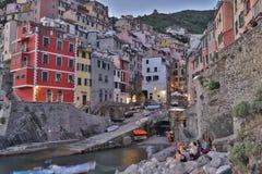 Fantastische glasige Bucht von Riomaggiore Stockfotos
