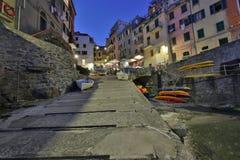 Fantastische glasige Bucht von Riomaggiore Lizenzfreie Stockbilder