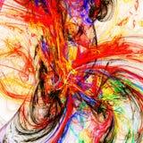 Fantastische kleurrijke helse hel Stock Afbeelding