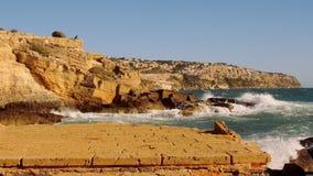 Fantastische kleurrijke Mediterrane kustlijn stock video