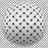 Fantastische Kugel mit nahtloser Oberfläche stock abbildung