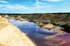 Fantastische Landschaft eines verlassenen Steinbruchs Lizenzfreies Stockbild