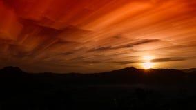 Fantastische mening van de donkere donkere hemel Dramatisch en picturesqu Royalty-vrije Stock Foto's