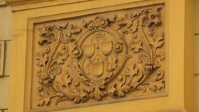 Fantastische mening van oud Kroatisch Nationaal Theater in Zagreb, architectuur stock footage