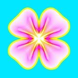 Fantastische neonbloem, abstracte vorm met veel het mengen van lijnen stock afbeelding