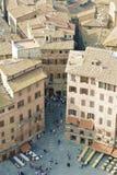Fantastische Piazza del Campo Stock Fotografie