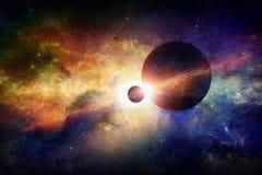 Fantastische ruimteachtergrond vector illustratie