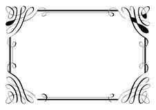Fantastische Seiten-Grenze vier stock abbildung