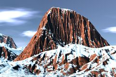 Fantastische sneeuwberg Royalty-vrije Stock Foto's