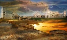 Fantastische steden Royalty-vrije Stock Foto's