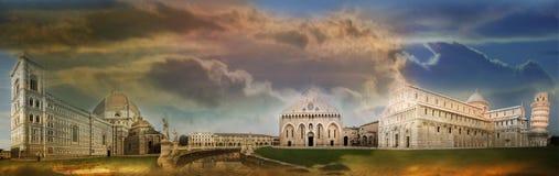 Fantastische steden Royalty-vrije Stock Afbeelding