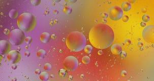 Fantastische structuur van kleurrijke bellen Chaotische motie abstracte achtergrond stock videobeelden