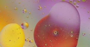 Fantastische structuur van kleurrijke bellen Chaotische motie abstracte achtergrond stock video