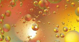 Fantastische structuur van kleurrijke bellen Chaotische motie abstracte achtergrond stock footage