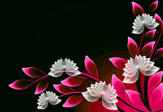 Fantastische transparante bloemen vector illustratie