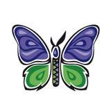 Fantastische vlinder De vlindermetamorfose nam toe stock illustratie
