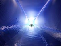 Fantastische waterpassage Royalty-vrije Stock Foto's