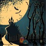 Fantastische wereld van Halloween Royalty-vrije Stock Afbeeldingen