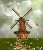 Fantastische windmolen vector illustratie