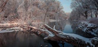 Fantastische Winterlandschaft Lizenzfreie Stockfotos