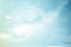 Fantastische zachte wolk en hemel abstracte achtergrond royalty-vrije stock foto