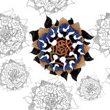 Fantastische zonnebloemen royalty-vrije illustratie