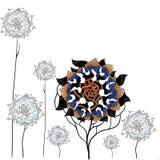 Fantastische zonnebloemen Royalty-vrije Stock Foto's