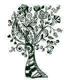 Fantastischer abstrakter Baum Stockfotografie