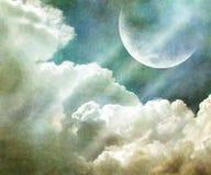 Fantastischer grundge Himmel Stockfoto