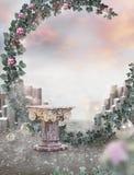 Fantastischer Hintergrund der surrealen Kunst phantasie stock abbildung