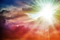 Fantastischer mehrfarbiger Himmel Stockfoto