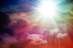 Fantastischer mehrfarbiger Himmel Stockbild