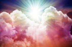 Fantastischer mehrfarbiger Himmel Lizenzfreies Stockfoto