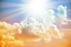 Fantastischer mehrfarbiger Himmel Stockfotos