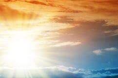 Fantastischer mehrfarbiger Himmel Lizenzfreie Stockbilder