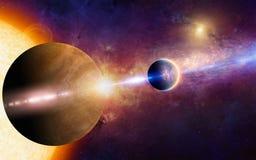 Fantastischer Raumhintergrund Lizenzfreies Stockbild