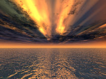 Fantastischer roter Sonnenuntergang