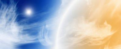 Fantastischer schöner Himmel lizenzfreie stockbilder